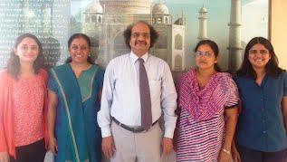 (L-R) Swati Vyas, Prof. Vandana Patravale, Prof. Ganapati D. Yadav (Vice Chancellor, ICT), Prof. Sharmila Majee and Priyanka Prabhu